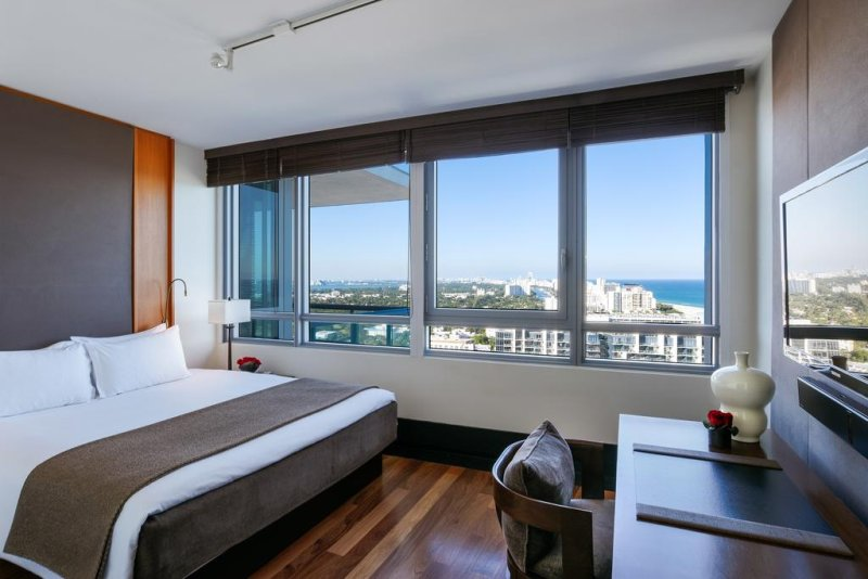 The Setai, Miami Beach. Located directly on the beach in Miami's famous Art Deco district, this resort offers yoga and tai-chi classes. Suites are furnished in Asian-style décor.