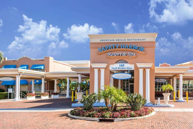 Safety Harbor Resort & Spa Trademark Collection by Wyndham. On a natural mineral spring, and only moments from Safety Harbor, Florida's beautiful beaches, this resort features first-class spa services, exceptional accommodations and is close to Tampa city center.