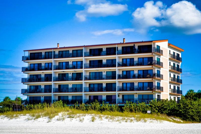 Surfside Condos 202. This beautiful 3 bedroom, second floor condo is directly on the gorgeous white sands of Clearwater Beach.