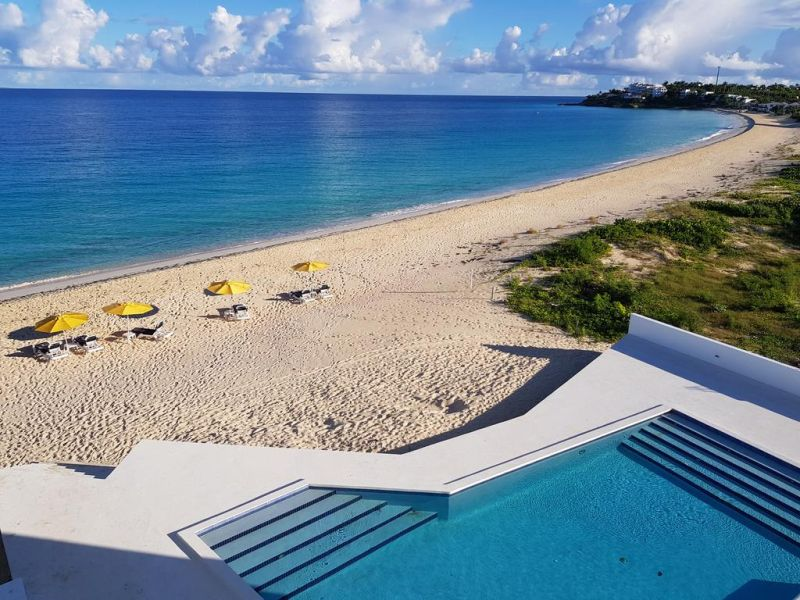 Turtle's Nest Beach Resort is located in the middle of Meads Bay beach.