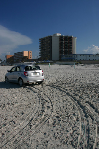 Driving on Daytona Beach. One of my favorite things about Daytona Beach is that you can drive on the beach