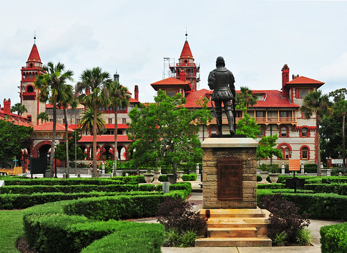 Flagler College. One of the stops on the carriage ride was by Flagler College; Henry Flagler was instrumental in the development of Florida all the way down to the Florida Keys, much like I-95.