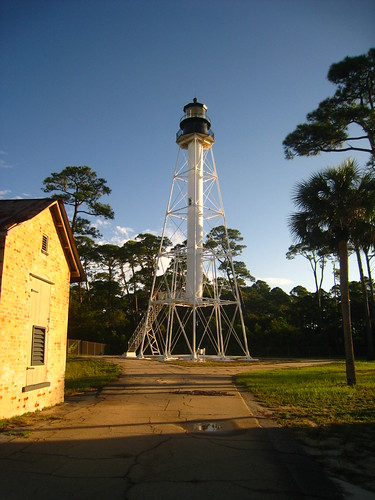 Cape San Blas Lighthouse. There were a few new constructs in-between the original and the currently standing lighthouse.