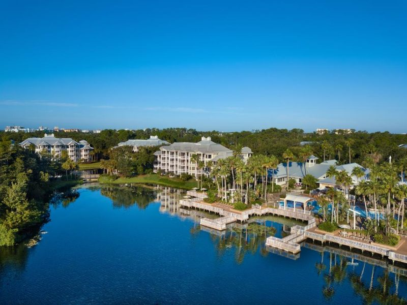 Marriott's Cypress Harbour Villas. Set in landscaped gardens around a lake, the Marriott's Cypress Harbor offers luxurious villas with a fully equipped kitchen