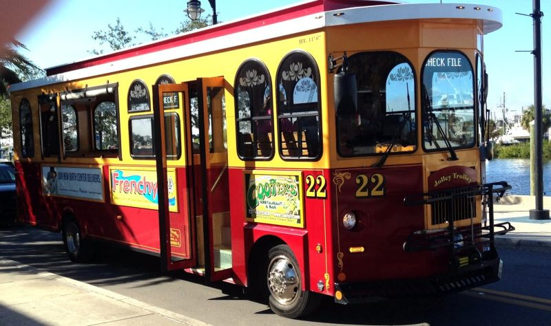 Clearwater. The Jolley Trolley- Take a ride on the Jolly Trolley and enjoy all the city has to offer.