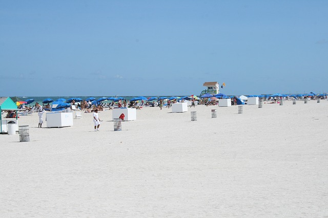 Miami Beach. No matter when you are planning to arrive, you should always book well ahead. During the Summer tourist season, people flock here from all over the world