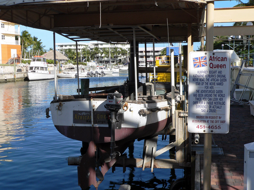 Are you a classic film lover? Then get yourself to the marina at Key Largo where a cinematic treat awaits you in the form of a famous boat.