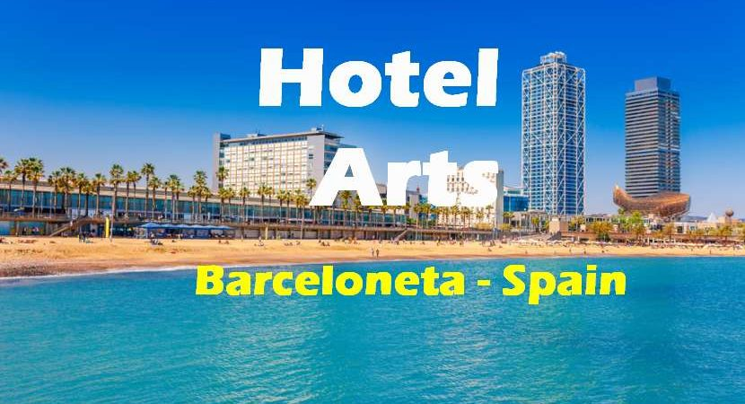 Hotel Arts in Barceloneta. Situated by the beach at the heart of the Olympic Port, the Hotel Arts is one of the most symbolic luxury hotels in Barcelona. #beach