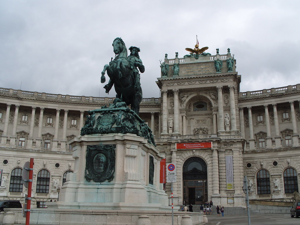 Neue Burg Vienna. Neue Burg contains a collection of ancient instruments known as the Musikinstrumente along with the Ephesus Museum, the Museum of Ethnology, and the Collection of Arms and Armor.