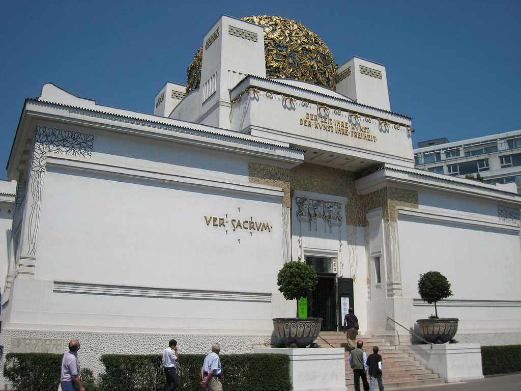 Secession Museum Vienna. Secession focuses on a mixture of art mediums in contemporary art. Paintings, 3D artworks, and music offer an experience for all of the senses.