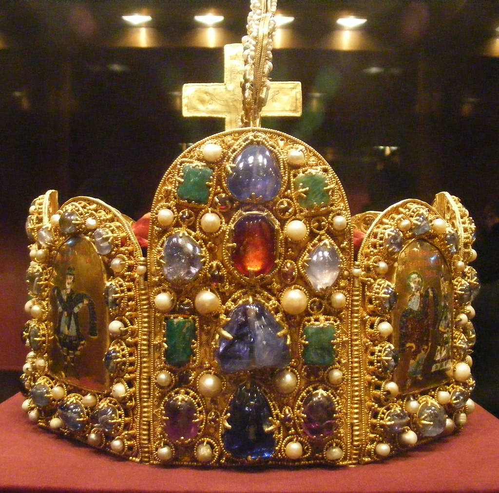 Vienna. The Imperial Treasury, known as the Schatzkammer, contains sizeable collections of jewels and gold from the Habsburg family.